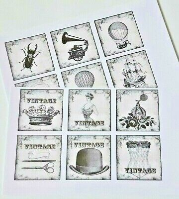 15-45 Apothecary Labels  PRECUT SCRAPBOOKING CRAFT CARD TOPPER EMBELLISHMENT 2