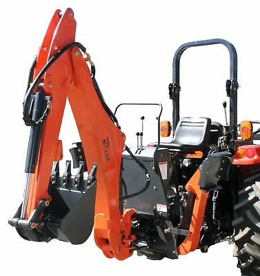 Farmer Helper Tractor Backhoe, 9'Dig 3-Pt Self Contained, PTO Powered (FH-BHM9)