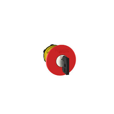 ZB5AS944 Emergency Stop Push Button Head - Key Release - Red - 22mm