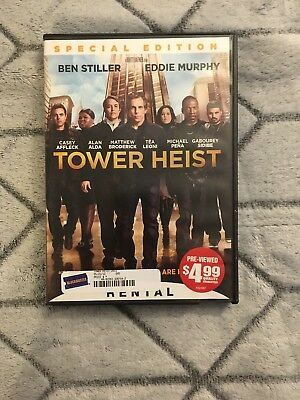 TOWER HEIST DVD, 2012, Spec Edition * Ben Stiller, Eddie Murphy