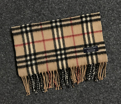 Auth Burberry London Cashmere scarf Made in England Classic MINT 047