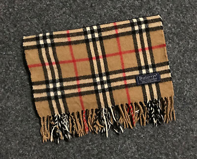 Vintage Burberry London Cashmere scarf Made in England Classic Beautiful 048