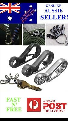 5x Mini SF Clasp Clip Carabiner Quick Release Key Ring Chain Keyring Keychain