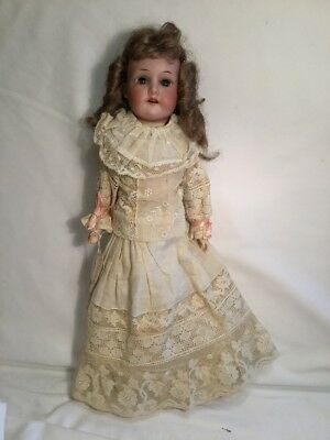 "16"" Antique Armand Marseille Wood Hands Bisque Doll Beautiful Clothes Kid Body"