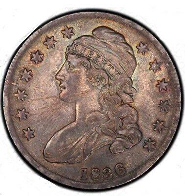 Rare High Grade 1836 Capped Bust Half Dollar  Lettered Edge AU, Sale