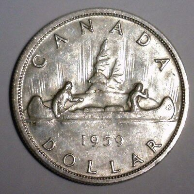 1959 Silver Canadian Dollar   Nice Looking Coin!!