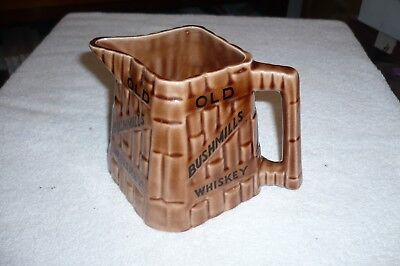 Old Bushmills  Whiskey Square Ceramic Water Pitcher , Mint Contition
