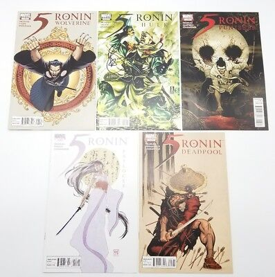 5 Ronin 1 2 3 4 5 Complete Variant Set May 2011 Vol 1 Marvel Comics Deadpool