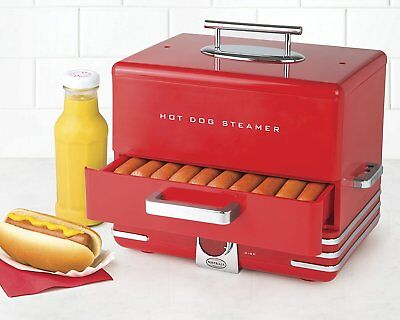 XL Hot Dog Steamer Machine Grill Bun Sausage Warmer Electric With Cooking Dial
