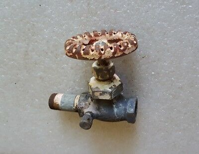 ANTIQUE Vintage McDONALD Brass GAS VALVE Water ? SPIGOT FAUCET DECORATIVE HANDLE