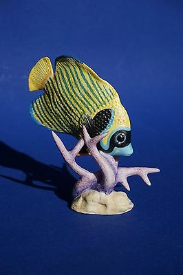 """FRANKLIN MINT 1988 """"Jeweled Ocean"""" IMPERIAL ANGELFISH Tropical Fish Figure"""