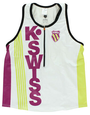 K-Swiss Womens Tri Top Sleeveless Shirt White