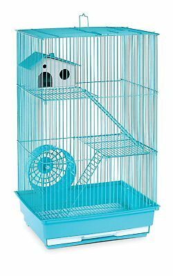 Hamster Cage 3 Level Gerbil Pig Rat Home Wire Small Animal Pet Mint Green NEW