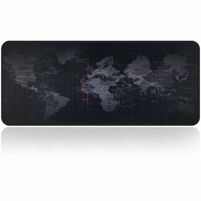 Mouse Pad Mat Gaming World Map Design Thick Large For Gamer Laptop And Computer