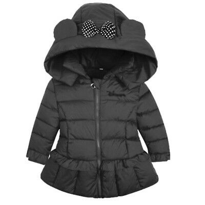 2017 New Girls Clothing Kids Coat Winter Warm Baby Girl Jackets Hooded Outerwear
