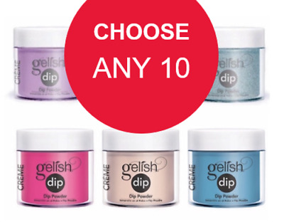Gelish Dip SNS Dipping Powder 23g / Choose Any 10 Colors get 1 Free Color