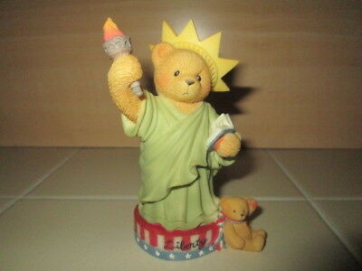 Cherished Teddies Bear Figure Statue of Liberty Libby My Country Tis of Thee