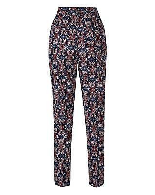 New Womens Cotton Sateen Tailored Trouser