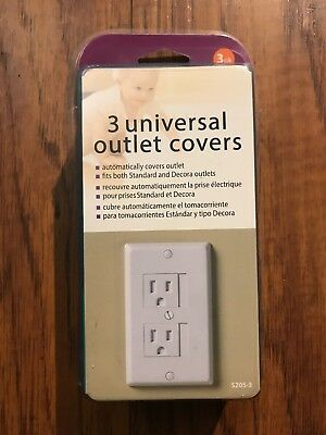 KidCo Universal Outlet Cover - 3pk, White - S205-3 White