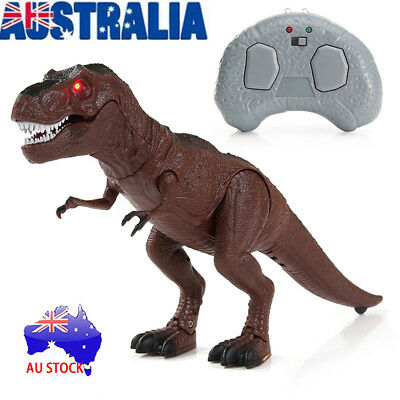 Walking Dinosaur Toy Model with Remote Control Light-Up Sound Action Figure MN