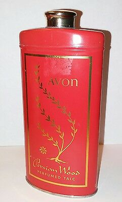 Rare Avon 1964 Persian Woods Perfumed Talc 2.75 Oz. Powder Collectible Tin New
