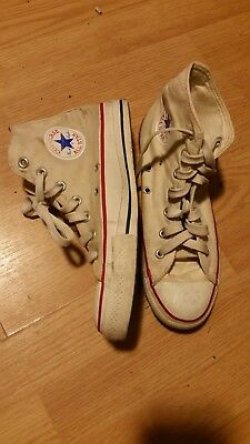 Vintage Chuck Taylor Converse All Star Canvas Hi Tops Made In USA SZ Men 6 rare