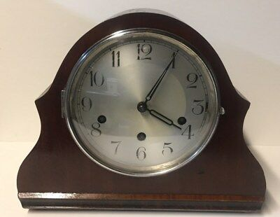 Vintage 1930's German Haller 8 Day Mantle Clock With Westminster Chime