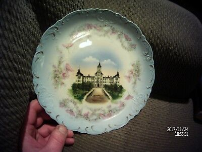 Vintage Austrian porcelain plate by wheelock china(depicts TX State University)
