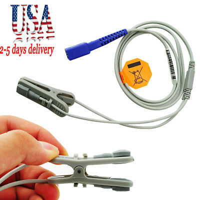 9 Pins Veterinary SpO2 Ear Lingual Sensor Probe VET Fit For NELLCOR USA STOCK CE