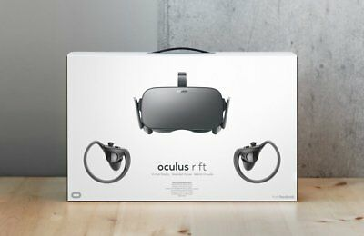 Oculus Rift VR Virtual Reality Headset Touch controller bundle FREE Games