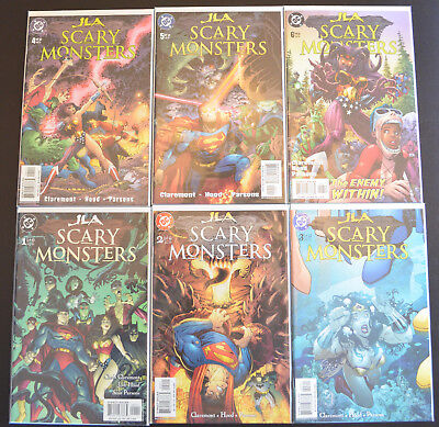 JLA: SCARY MONSTERS (6-Book) DC Comic LOT with #1 2 3 4 5 6 - HIGH GRADE (NM+)