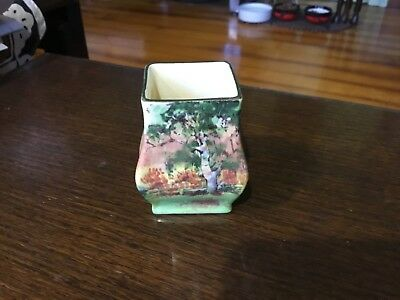 Royal Doulton 6 cm Tall Gum Trees Series Ware Square Top Vase VGC 018 Shape.
