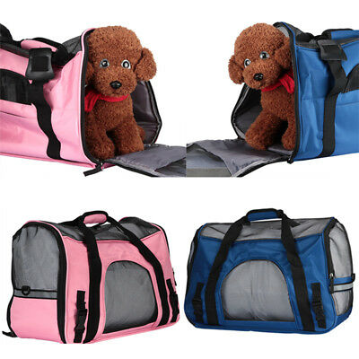 Large Pet Carrier Soft Sided Cat / Dog Comfort Travel Tote Bag Airline Approved