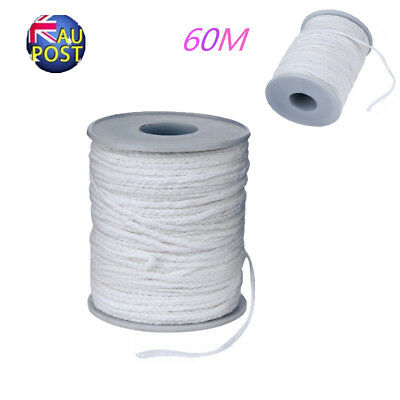 60M/Roll Spool of Cotton Square Braid Candle Wicks Wick Core Candle Making MN