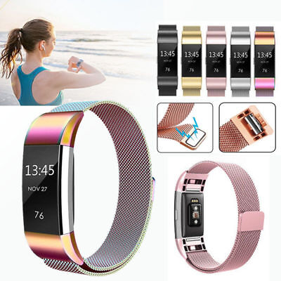 For Fitbit Charge 2 Strap Replacement Milanese Loop Band Stainless Steel Newest