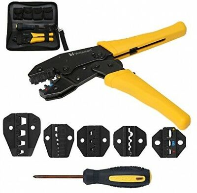 Voilamart Crimping Tool Kit Terminal Die Sets Insulated Cable Wire Hand Tool