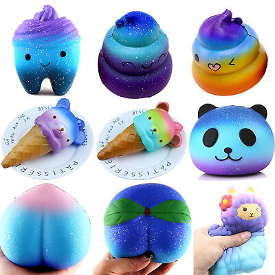 Galaxy Jumbo Squishy Scented Slow Rising Charms Squeeze Toy Pressure Relief Toys