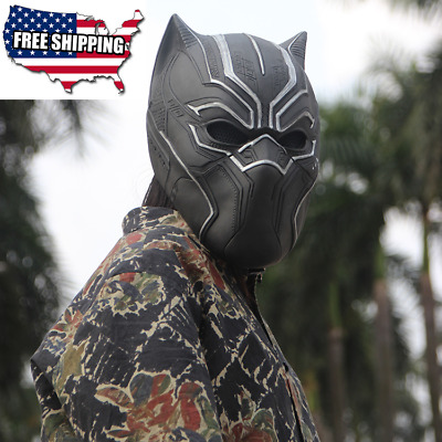 US SHIP Marvel BLACK PANTHER Captain America Civil War Cosplay Prop Full Mask