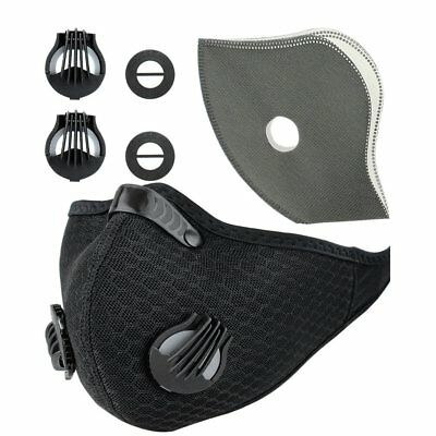 Sports Respirator Mask Dust proof Anti Pollen Allergy Gas Half Face Mask Filter