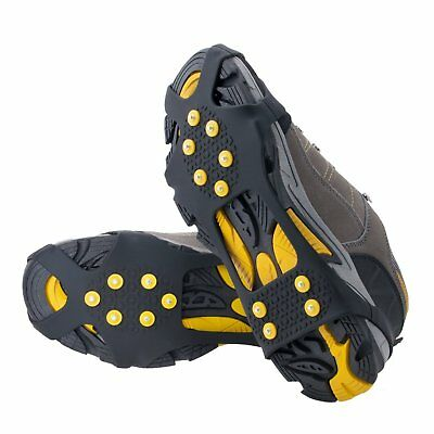 Ice And Snow Grips Over Shoe Boot Traction Cleat Rubber Spikes Anti Slip Light