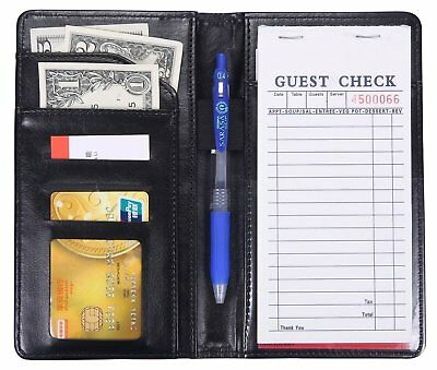 Waiter Book Server Wallet Pads Waitress Restaurant Waitstaff Organizer Guest New