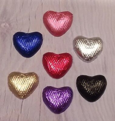 Belgian Milk Chocolate Foil Wrapped Hearts - Wedding & Party Table Favours
