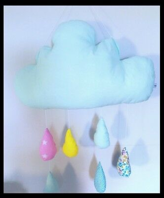 Cloud with drops baby nursery decorative pillow Brand new handmade