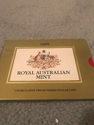 1985 Royal Australian Mint - Uncirculated  Gold Two Hundred Dollar Coin $200
