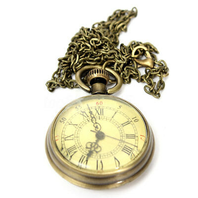 Vintage Bronzo Orologio da tasca Taschino Quarzo Collana  Pocket Watch Regalo