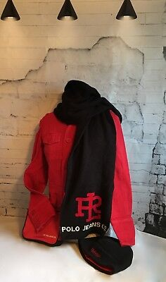 Ralph Lauren POLO Women's Jacket Winter Hat and Scarf with Kit bag