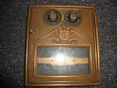 BRASS US POST OFFICE BOX DOORS 5 1/2 x 6 1/2 Medium #26