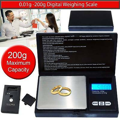 Mini Digital Jewellery Scale 0.01g Weight 200g  Electronic Pocket Weighing UK