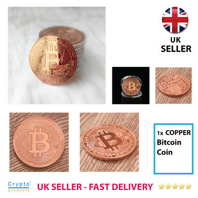 Bitcoin Coin BRONZE Collectible Rare BTC Gift Toy - UK SELLER & FAST DELIVERY
