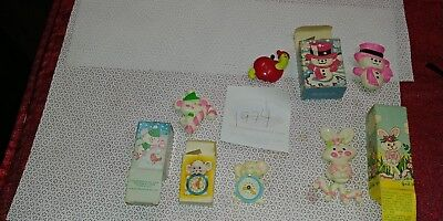 Vintage 1974 Avon Fragrance Glace Perfume Pins & Pins  Lot of 5 RARE w Boxes
